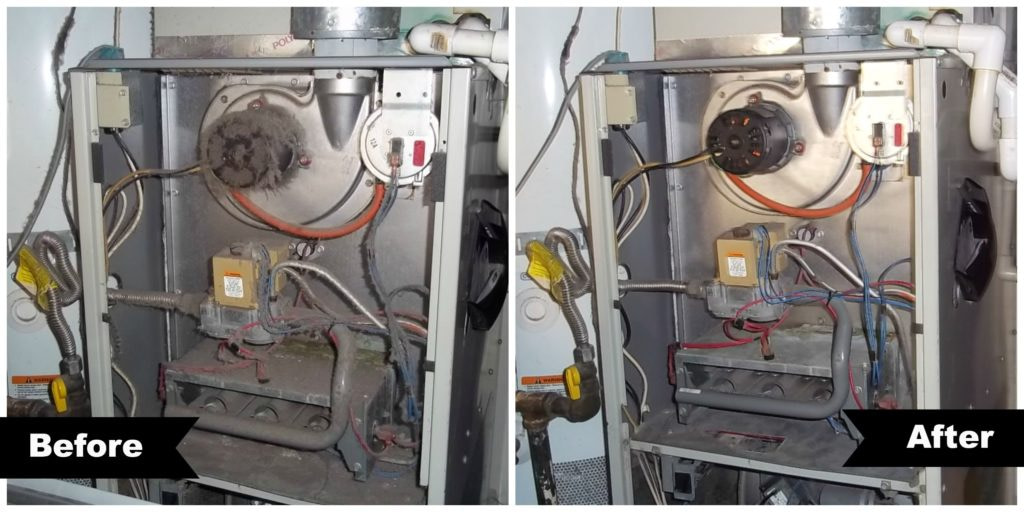 furnace clean up